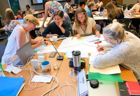 Instructors at UH Online 5-Week PD Workshop collaborating