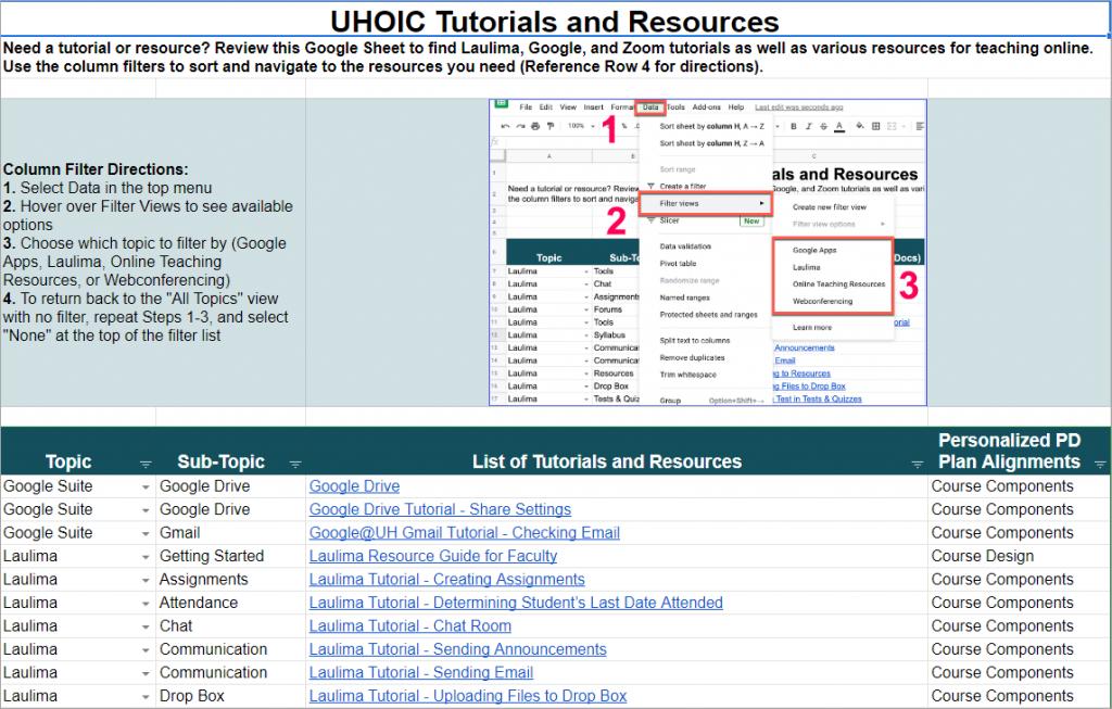 UHOIC Tutorials and Resources Screenshot
